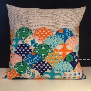 Lotus Pond cushion by I'm a Ginger Monkey